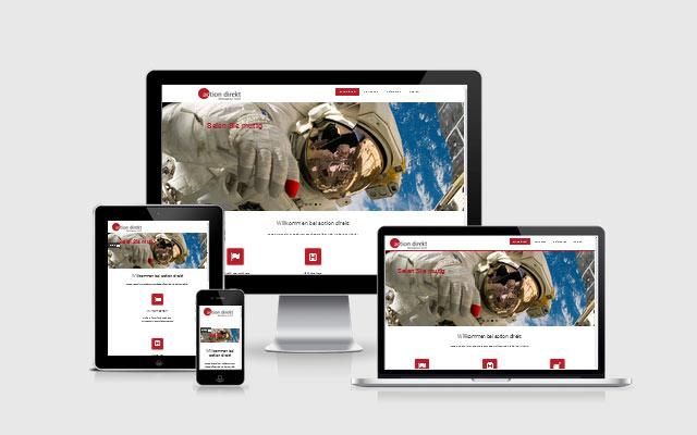 OneWebDESIGN Berlin für action direkt Werbeagentur GmbH, Hamburg - responsive Webdesign mit Wordpress
