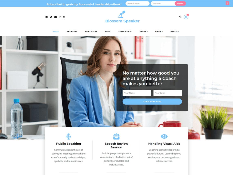 Beispiel WordPress Landing Page