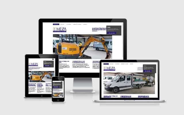 Webdesign Berlin für MEZA Leitungsbau GmbH