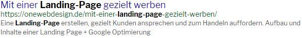 Landing-Page SEO Optimierung