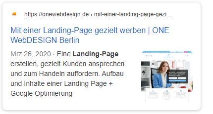 Snippet-Optimierung für die Landing-Page