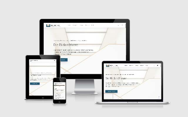 Responsive Webdesign für Bildarchivare.com